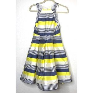 Eva Franco Striped Fit & Flare Size 4 Dress